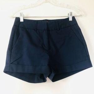 Patrizia Luca Milano Shorts Navy Blue Mid Cuffed